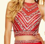 Robe Chiffon perlante en deux pièces de Porm de robe de soirée de corsage de femmes