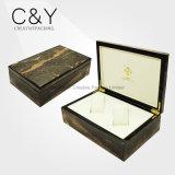Cadre de montre en bois de fini de marbre de luxe superbe pour 2 montres