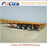 Aanhangwagen van de Container van de Vrachtwagen van de Container van twee Assen 40FT 45FT Flatbed
