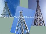 자유로운 서 있는 기둥 GSM Bts 3 다리가 있는 관 통신 탑