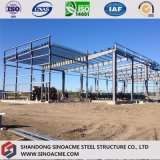 Construction de structure métallique pour l'atelier avec le bureau