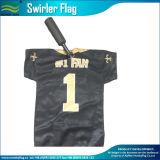 De afgedrukte Vlag van de Staaf van het Handvat van Swirler van de Sponsors van de Ventilators van de Polyester