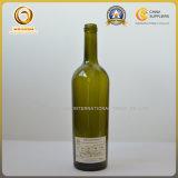 空750mlによって先を細くされるボディ緑ガラスのワイン・ボトル(577)