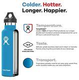 Botella de agua hidráulica aislada vacío hidráulico colorido 18oz 21oz 24oz del matraz del acero inoxidable del matraz con la boca estándar