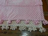 Couverture de cadeau couverture de bébé en flanelle avec bordure