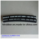 Le fil tressé en acier à haute pression avec raccord de flexible en caoutchouc