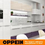 Armadio da cucina di legno della lacca viola moderna con la Tabella pranzante (OP16-L10)