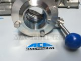 Válvula de mariposa soldada maneta plástica de la Multi-Posición del acero inoxidable (ACE-DF-DH)