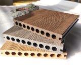 Pannelli da pavimento anti-UV Redwood legno esterno composito plastica WPC Decking WPC composito con coestrusione esterna e tappo in rilievo 3D Online-goffratura mista all'ingrosso Ponte