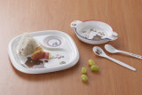 La melamina, Kid's 3-dividido placa/plato de bebé (NBG883)