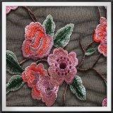 Nylon шнурок вышивки цветка шнурка вышивки сетки черноты шнурка вышивки сетки