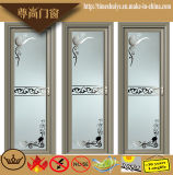 花が付いている内部の浴室の装飾のためのアルミニウムによって蝶番を付けられるドア