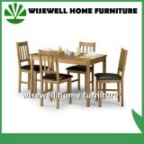 Fester Eichen-Holz-Speisetisch mit 4 Stühlen (W-DF-9026)