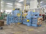 Prensa horizontal do cartão automático cheio hidráulico do papel Waste para recicl a máquina