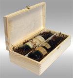 Caja de vino de Madera, embalaje del vino, vino la pantalla (WA-034)