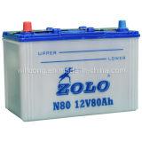 Batería de coche del almacenaje/12V 80ah Zolo