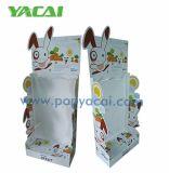 Le revêtement UV vert présentoir en carton, carton de vente au détail pour le supermarché d'affichage