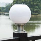 Neue runde Kugel-helle im Freien wasserdichte angeschaltene Pfosten-Licht-weiße Schreibtisch-Solarsolarlampe für Garten-Patio-Landschaftshof