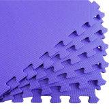 De goedkope Mat van het Schuim van EVA van de Textuur van de Prijs Grote recycling Geborstelde Blauwe