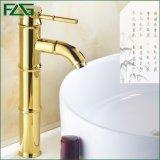 Flg Salle de bains classique d'or robinet monté sur le pont de robinets à levier unique