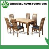 Tabela de jantar contínua da madeira de carvalho com 4 cadeiras (W-DF-9026)