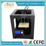 Deposito fuso che modella (FDM) la stampante di tecnologia 3D con l'ABS, PLA, PC, materiale di PVA
