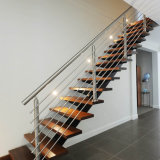 Pasamano de la barra de Rod del acero inoxidable del poste de la barra plana de acero inoxidable para la barandilla de la escalera