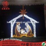 Iluminación H del LED: los 2.5cm * L: pesebre modificado para requisitos particulares los 300cm Scene Luces De Navidad de la natividad de las luces de la Navidad para Decoracion