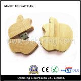 Azionamento di legno del USB di figura della frutta (USB-WD315)