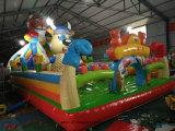 運動場の子供のための標準的で膨脹可能な跳躍の弾力がある警備員のコンボの城