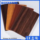 Panneaux composés en aluminium ignifuges en bois intérieurs (ACP)