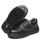 Coupe basse noir véritable Chaussures de sécurité en cuir de vache
