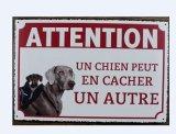 Искусствоо стены металлической пластинкы знака собаки металла популярного корабля предупреждающий