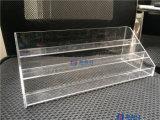 Présentoir de table de canalisation verticale de crémaillère acrylique claire de vernis à ongles