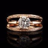 Nam de Gouden Ring van Anillos van de Overeenkomst van Bague van de Ring van de Bloem van Anelli van de Kleur toe