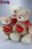 """12""""castanho claro por grosso adorável ursos de peluche com Fita Vermelha e coração travesseiro"""