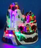 Ambachten 11 Vezeloptische '', leiden en de Muzikale Scène van de Decoratie van Kerstmis van het Dorp met het Bewegen van Trein, 8 Liederen van Kerstmis