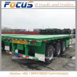 L'essieu 2/3 40FT semi-remorque à plat le transport des conteneurs semi-remorque