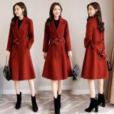 卸し売り女性冬の多彩なオーバーコートの女性のウールのカシミヤ織のコート