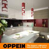 Oppein uer-förmig Lack-hölzerne modulare Küche-Eckschränke (OP15-L33)