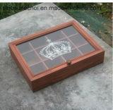 장방형 차 패킹을%s 분배자를 가진 Retro 나무로 되는 저장 상자