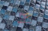 De blauwe Kristal Gebarsten Tegel van het Mozaïek van het Glas (CC164)