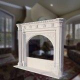 Lareira de mármore gótica com boa qualidade Hand-Carving T-5125