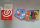 Cuadrado de promoción de dibujos animados de tarjetas de juego de impresión