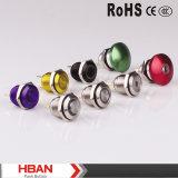 Interruttore illuminato cerchio di RoHS del Ce di Hban (16mm)