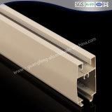 Revestimiento de polvo de color beige Extrusión de Aluminio Perfil / Perfil de aluminio para materiales de construcción de la ventana