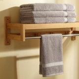 Rek het van uitstekende kwaliteit van de Handdoek van het Bamboe van het Bad met Hangers