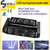 8 * 10W RGBW 4in1 LED Moving Head Spider (HL-017YT)
