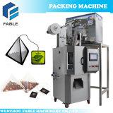 Machine d'emballage en sac de thé en nylon à triangle à échelle électrique pleine automatique
