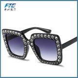 Vetri quadrati di Desginer Sun dell'orlo delle donne marca di cristallo degli occhiali da sole di retro